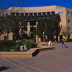 Facade of a university building, University Of California, Irvine, Orange County, California, USA