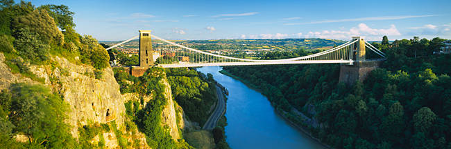 Bridge across a river, Clifton Suspension Bridge, Avon Gorge, Bristol, England