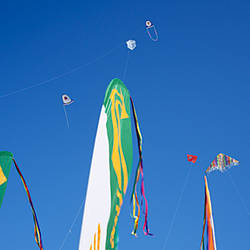 Low angle view of kites flying in the sky, Bouches-du-Rhone, Marseille, France