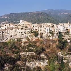 Village on a hill, Tourettes-Sur-Loup, Alpes-Maritimes, Provence-Alpes-Cote d'Azur, France