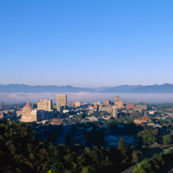 High angle view of a city, Asheville, Buncombe County, North Carolina, USA