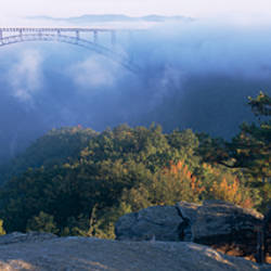Clouds over a bridge, New River Gorge Bridge, Fayetteville, West Virginia, USA