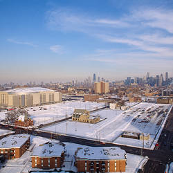High angle view of a city, United Center, Chicago, Cook County, Illinois, USA