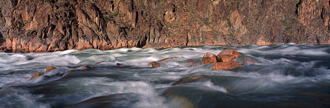 River flowing through rocks, Grand Canyon, Colorado River, Cococino County, Arizona, USA