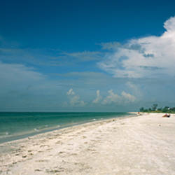 Clouds over the beach, Lighthouse Beach, Sanibel Island, Fort Myers, Florida, USA