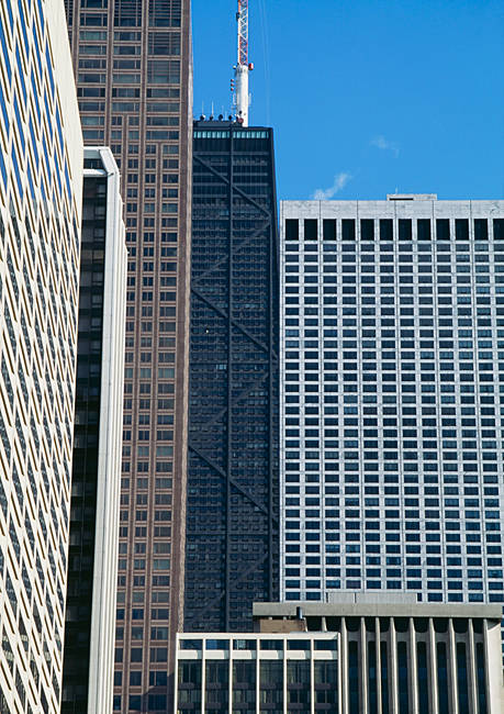 Buildings in a city, John Hancock building, Chicago, Illinois, USA