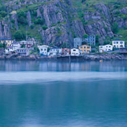 Buildings at a harbor, St. John's Harbor, St. John's, Newfoundland & Labrador, Canada
