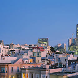 Buildings in a city, Telegraph Hill, San Francisco, California, USA