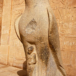 Close-up of a statue, Temple of Horus, Edfu, Nubia, Egypt