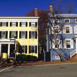 Low angle view of houses, Georgetown, Washington DC, USA