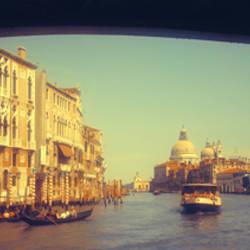 City viewed through a bridge, Ponte Dell'Accademia, Venice, Veneto, Italy