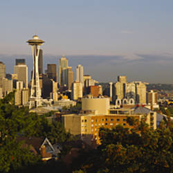 Skyscrapers in a city, Space Needle, Seattle, Washington State, USA