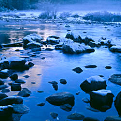 Rocks in a river, Yosemite River, Yosemite National Park, California, USA