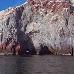 Rock formations in water, Isla Carmen, Baja California, Mexico