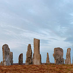 Rocks on a landscape, Callanish Standing Stones, Lewis, Outer Hebrides, Scotland