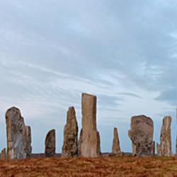 Rocks on a landscape, Callanish Standing Stones, Lewis, Outer Hebrides, Scotland
