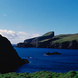 High angle view of an inlet, Shetland Islands, Scotland