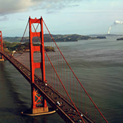 Bridge over a bay, Golden Gate Bridge, San Francisco, California, USA