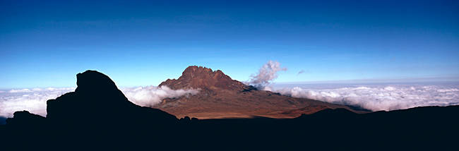 Clouds near a mountain range, Mt Kilimanjaro, Tanzania