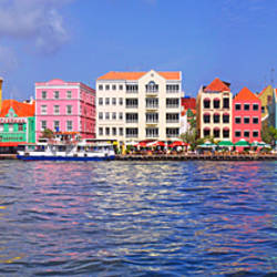 Buildings at the waterfront, Willemstad, Curacao, Netherlands Antilles