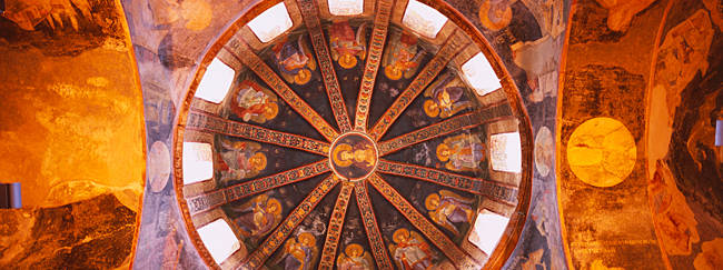 Frescos in a church, Kariye Museum, Holy Savior in Chora Church, Istanbul, Turkey