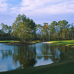 Pond on a golf course, Kilmarlic Golf Club, Outer Banks, North Carolina, USA