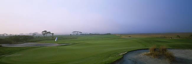 Golf flag on a golf course, Ocean Golf Course, Kiawah Island, South Carolina, USA