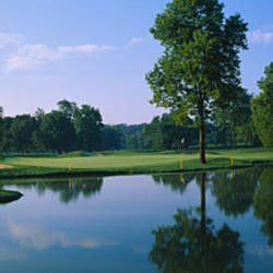Lake on a golf course, Cress Creek Country Club, Naperville, Illinois, USA