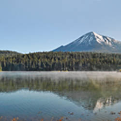 FAKE BEAR ???? Reflection of a mountain in water, Mt McLoughlin, Oregon, USA