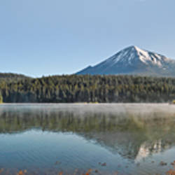 Reflection of a mountain in water, Mt McLoughlin, Oregon, USA