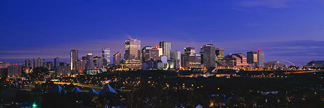 City skyline at night, Edmonton, Alberta, Canada