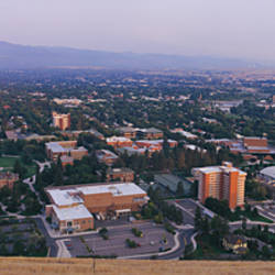 Aerial view of a city, University Of Montana, Missoula, Montana, USA