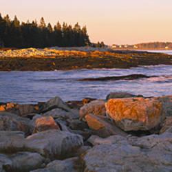 Rocks at the coast, Acadia National Park, Maine, USA