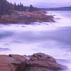 Rock formations at the coast, Monument Cove, Mount Desert Island, Acadia National Park, Maine, USA