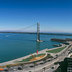 Bridge across a bay, Bay Bridge, San Francisco Bay, San Francisco, California, USA