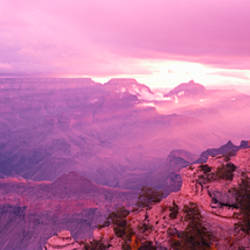 Rock formations in a national park, Yaki Point, Grand Canyon National Park, Arizona, USA
