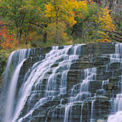 Waterfall on a mountain, Ithaca Falls, Tompkins County, Ithaca, New York, USA