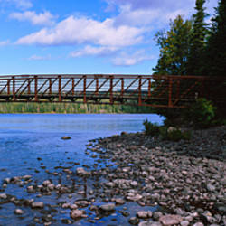 Bridge across a channel, Lake Superior, Isle Royale National Park, Michigan, USA