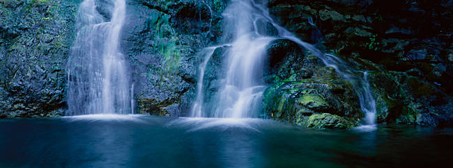 Waterfall in a forest, Salmon Creek Falls, Gorda, Los Padres National Forest, California, USA