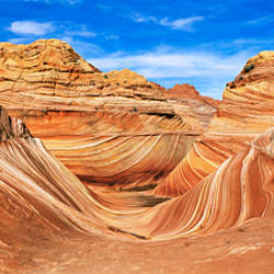 Canyon on a landscape, Vermillion Cliffs, Arizona, USA