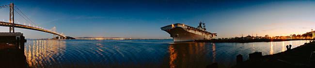 Cruise ship in the sea, USS Hornet, San Francisco, California, USA