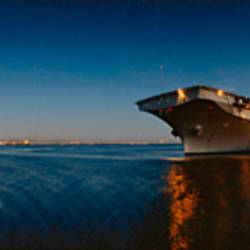 Cruise ship in the sea, USS Hornet, San Francisco, California, USA