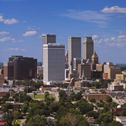 Aerial view of buildings in a city, Tulsa, Oklahoma, USA
