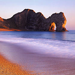 Rock formations on the seaside, Durdle Door, Dorset, England