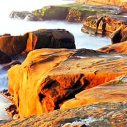 Rock formations at a coast, La Jolla, California, USA