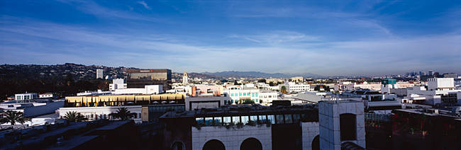 High angle view of a cityscape, Century City, Beverly Hills, City of Los Angeles, California, USA