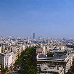 High angle view of a cityscape, Paris, France