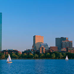 Buildings at the waterfront, Back Bay, Boston, Massachusetts, USA