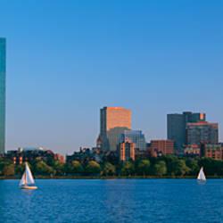 Buildings at the waterfront, Back Bay, Boston, Massachusetts, USA