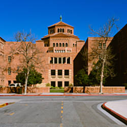 Facade of a building, UCLA, Powell Library, City of Los Angeles, California, USA
